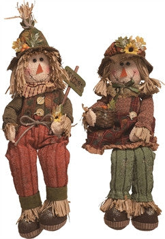 Sitting Scarecrows - FancySchmancyDecor