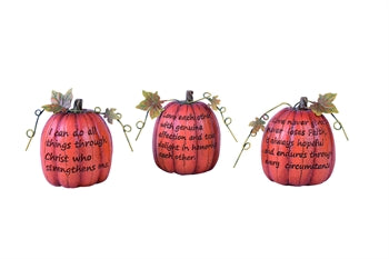 Pumpkin Decor with Sayings