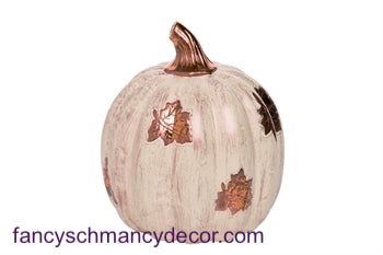 Copper Scatter Leaf Pumpkin