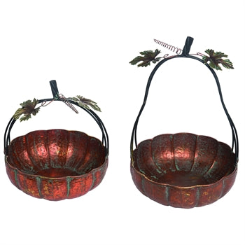 Metal Pumpkin Basket