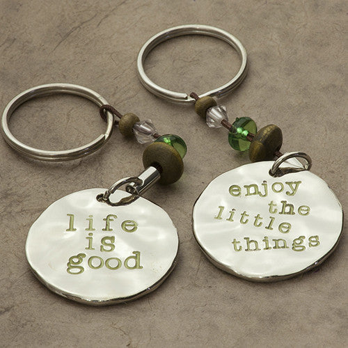 Enjoy the Little Things Token Keychain by Natural Life - FancySchmancyDecor
