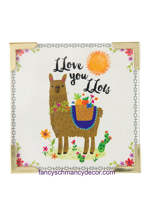 Llive Happy Llama Corner Magnet by Natural Life
