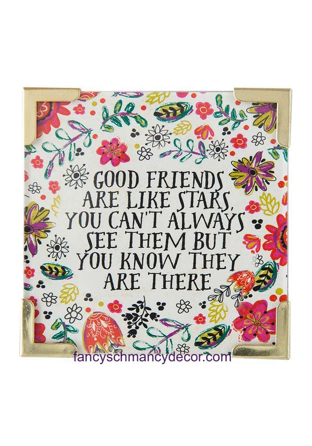 Good Friends Are Stars Corner Magnet by Natural Life