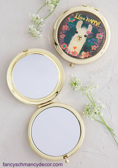Llive Happy Compact Mirror by Natural Life