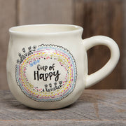 "Happy Mug with ""Cup of Happy"" by Natural Life - FancySchmancyDecor - 1"