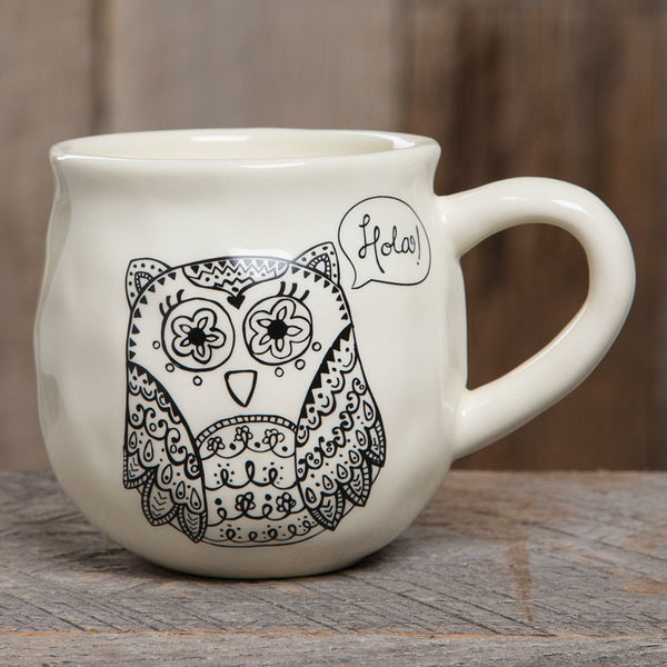 Happy Mug Owl by Natural Life - FancySchmancyDecor - 1
