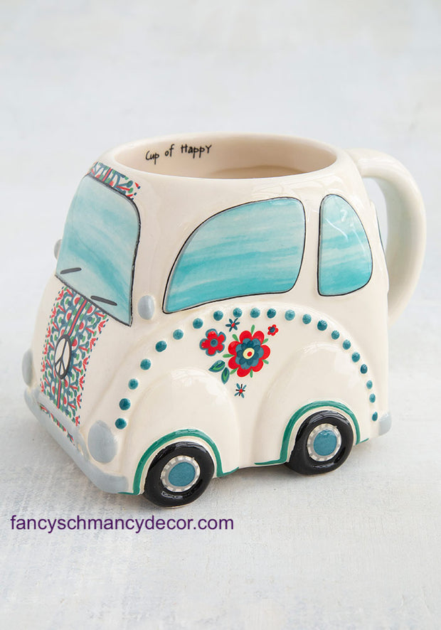 Folk Mug Holiday Car Ride Happy by Natural Life