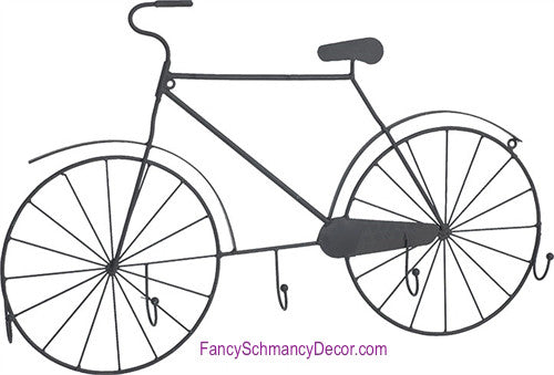 Metal Bicycle Wall Hook - FancySchmancyDecor
