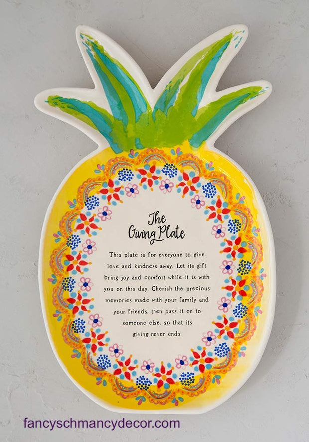 Pineapple Giving Plate by Natural Life