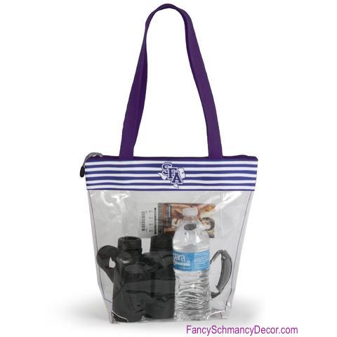 Clear Gameday Tote Purse Stephen F. Austin University
