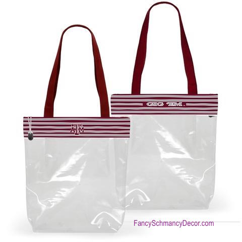 Clear Gameday Tote Purse Texas A&M University