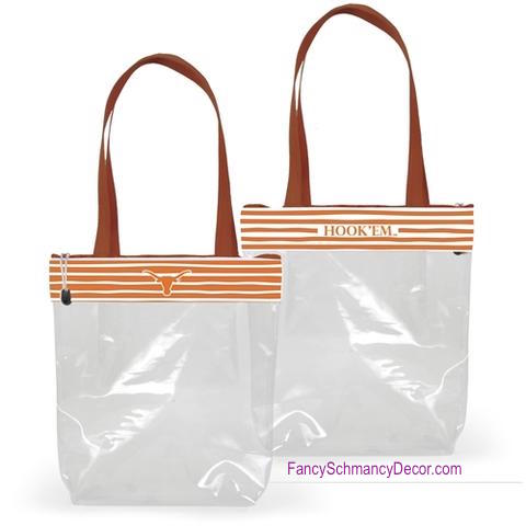 Clear Gameday Tote Purse University of Texas