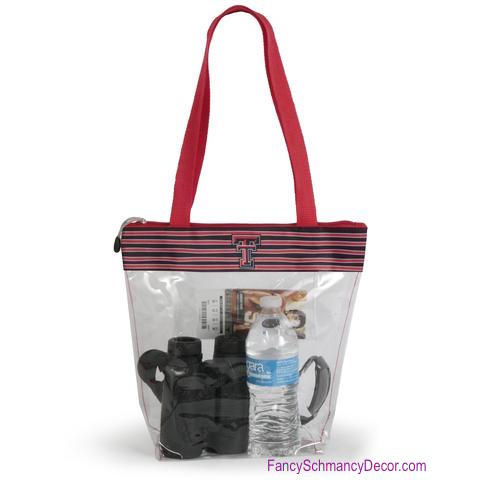 Clear Gameday Tote Purse Texas Tech University