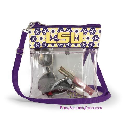 Clear Gameday Crossbody Purse LSU University