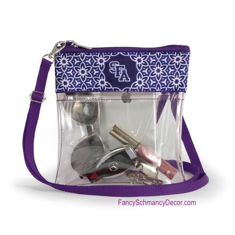 Clear Gameday Crossbody Purse Stephen F. Austin University