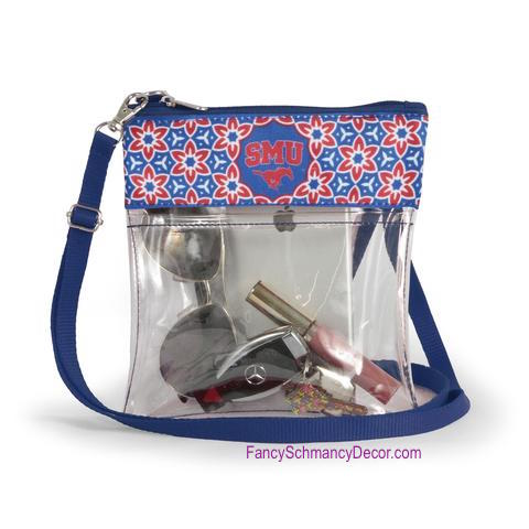 Clear Gameday Crossbody Purse Southern Methodist University