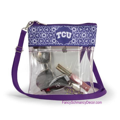 Clear Gameday Crossbody Purse Texas Christian University