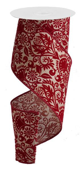 Holiday - Damask Ribbon - FancySchmancyDecor
