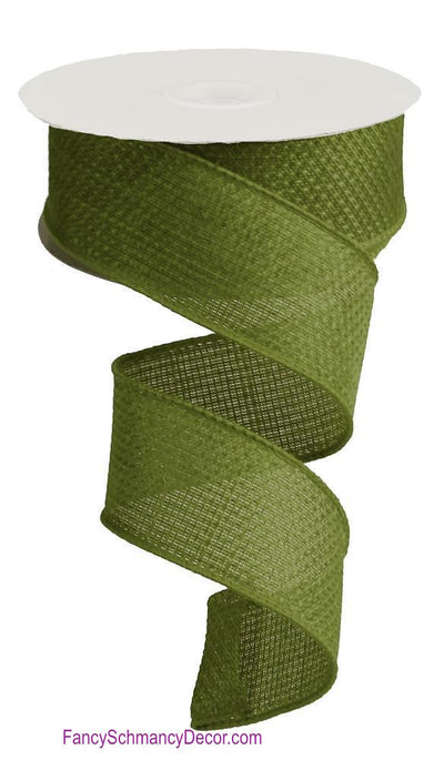 "1.5"" X 10 YD Moss Green Royal Burlap Ribbon"