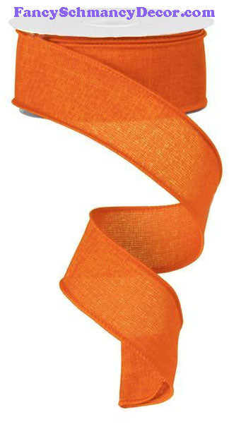 "1.5"" X 10 yd Royal Solid Orange Burlap Ribbon"