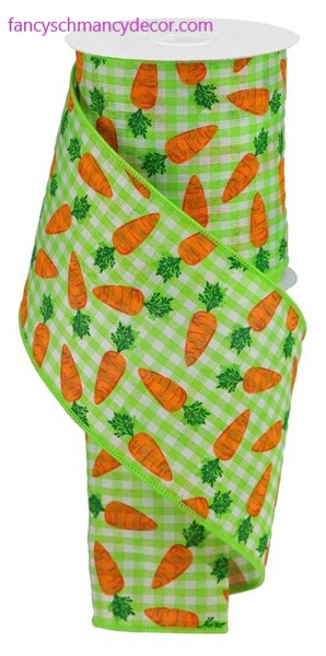 "4""X10yd Carrots On Gingham Check"