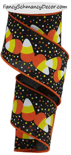 "2.5""X10yd Candy Corn/Dots"