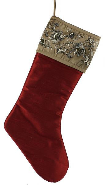 Christmas - Sequin Stocking - FancySchmancyDecor