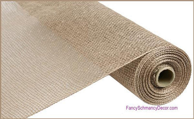 "21"" x 10 yards Natural Poly Burlap Mesh"