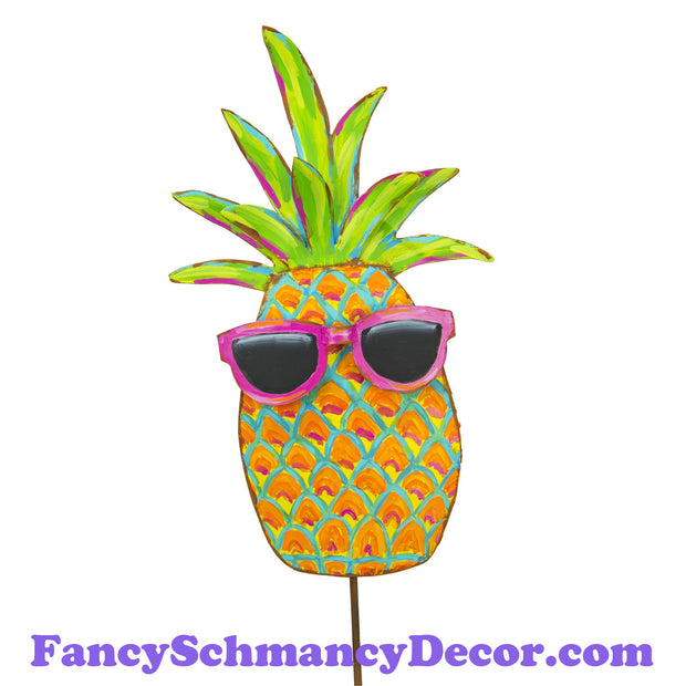 Cool Pineapple with Sunglasses by The Round Top Collection S19052