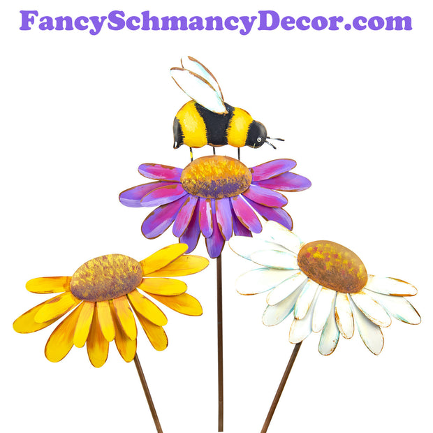 Colorful Cone Flowers (Small) S/3 by The Round Top Collection S19134