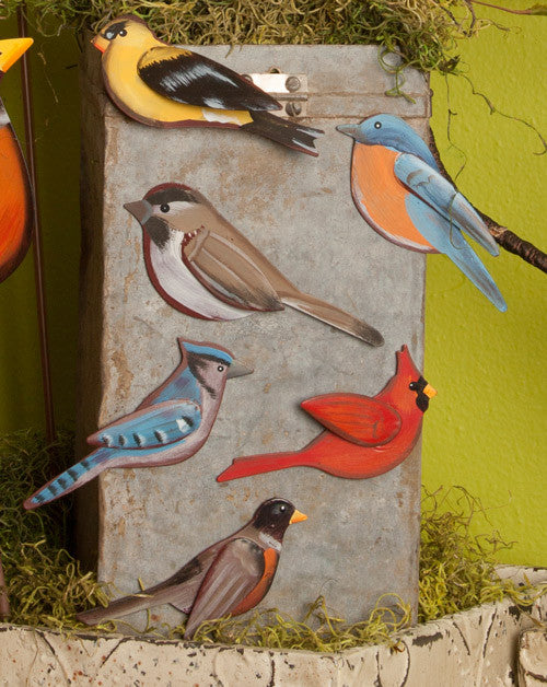 Wild Bird Magnets Assorted Set of 6 The Round Top Collection S6051 - FancySchmancyDecor