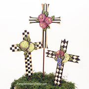 Garden Impression Elegant Crosses by The Round Top Collection S7042 - FancySchmancyDecor - 1