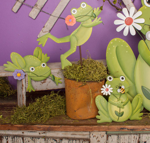 Tree Frog Stake by The Round Top Collection S7074 - FancySchmancyDecor