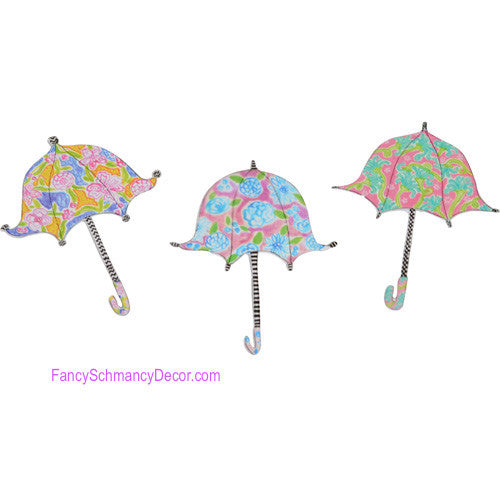Happy Umbrella Magnets- Asst. Set of 3 The Round Top Collection S8019 - FancySchmancyDecor