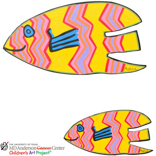 MD Anderson Ashlie's Fish Asst. Set of 2 The Round Top Collection S8025