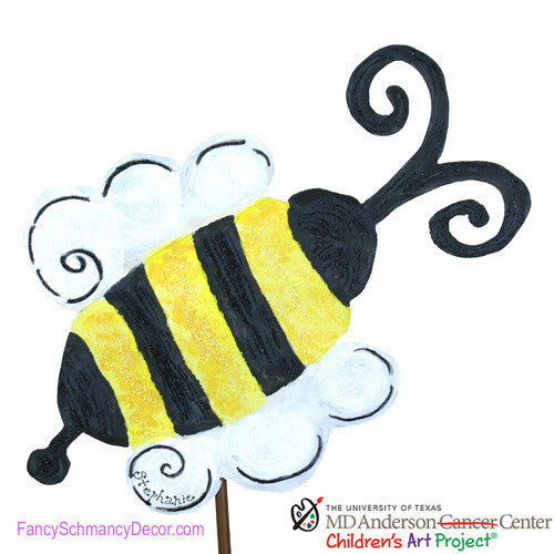 MD Anderson Stephanie's Bee by The Round Top Collection S8034 - FancySchmancyDecor