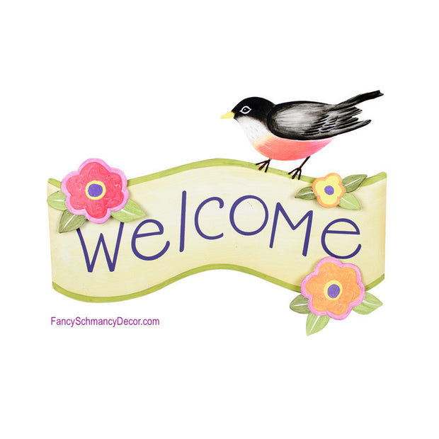 Robin Welcome Sign by The Round Top Collection S9066 - FancySchmancyDecor