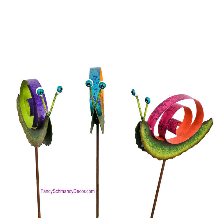 Garden Snail Mini Stake by The Round Top Collection S9075 - FancySchmancyDecor