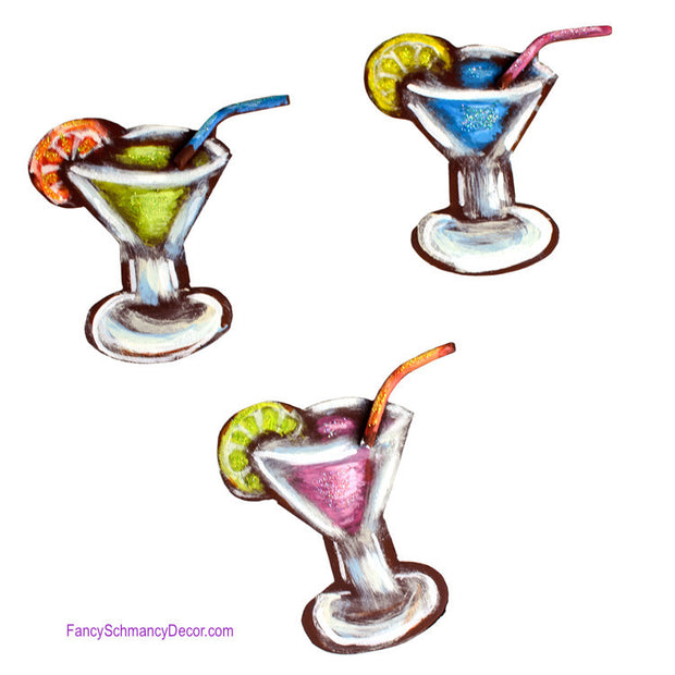 Margarita Magnets Assorted Set of 3 by The Round Top Collection S9096 - FancySchmancyDecor