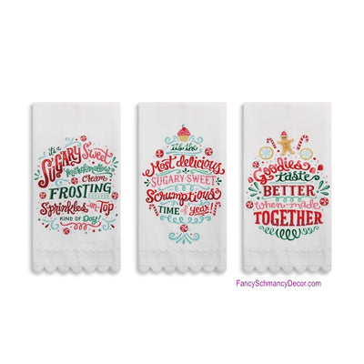 Holiday Goodies Tea Towel by DEMDACO