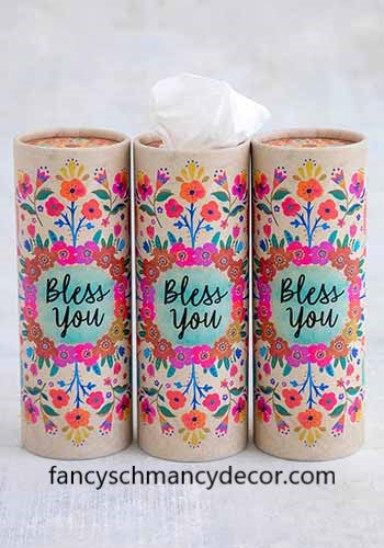 Bless You Car Tissues Set of 3 by Natural Life