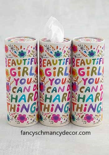 Beautiful Girl Car Tissues Set of 3 by Natural Life