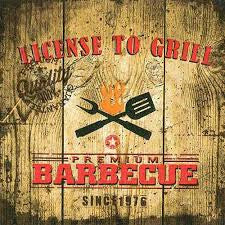 License To Grill Lunch Paper Napkin