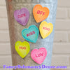 Talking Hearts Magnets S/6 by The Round Top Collection V19010