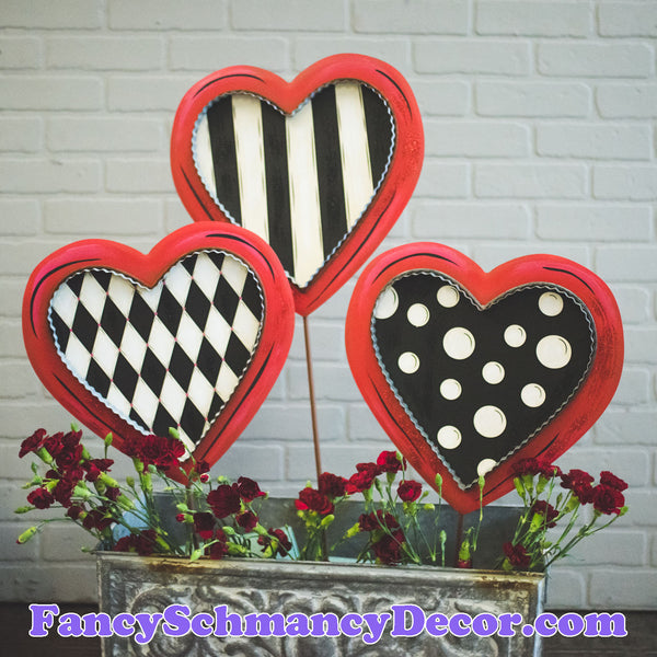 Elegant Hearts S/3 by The Round Top Collection V19029