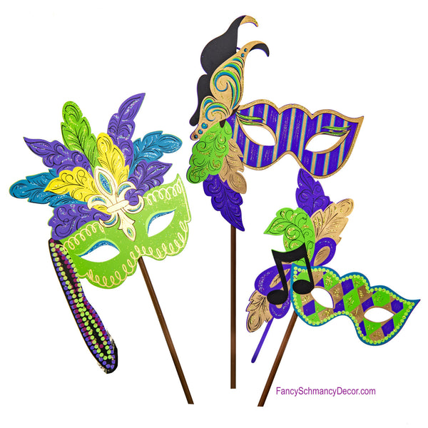 Mardi Gras Mask Stake by The Round Top Collection V19072
