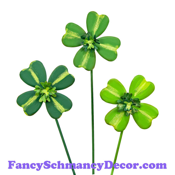 Four Leaf Clovers Medium S/3 by The Round Top Collection V19054