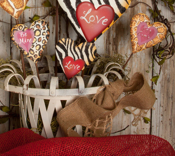 Valentine Animal Love Hearts Mini V5001 by The Round Top Collection - FancySchmancyDecor