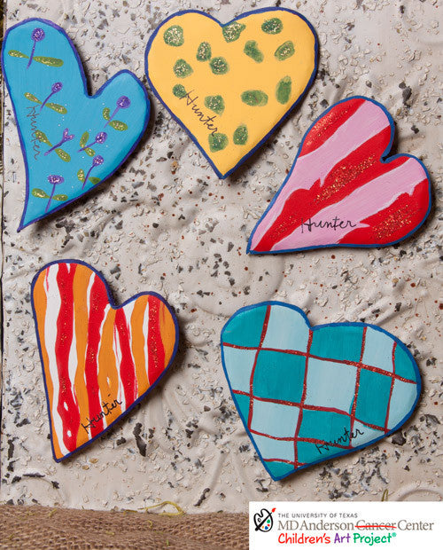 Valentine MD Anderson Hunter's Groovy Heart Magnets Assorted Set of 5 - The Round Top Collection V7039 - FancySchmancyDecor