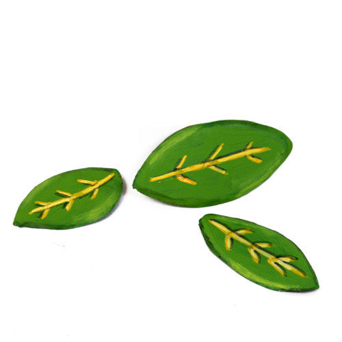 Heartfelt Leaf Magnets - Asst. 3 by The Round Top Collection V8028 - FancySchmancyDecor